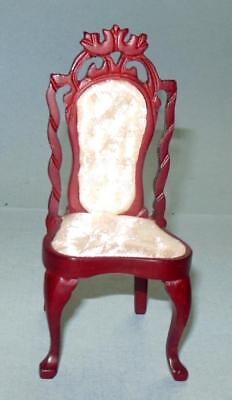 #745 DOLL HOUSE FURNITURE MINIATURES VINTAGE SIDE CHAIR MAHOGANY
