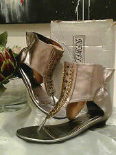 Gorgious Lagenlook Leather Gladiator Sandals/Shoes By REBEL HEART ~ Size 5 ~BNIB