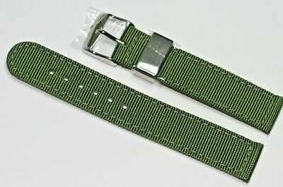 20mm Green Woven Nylon Infantry Military 2 Piece Fabric Strap UK Supply