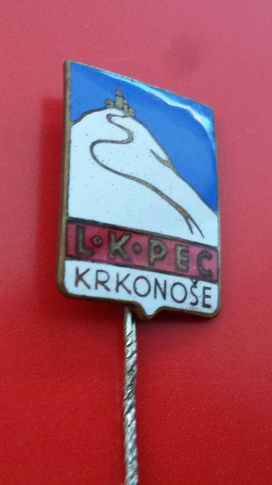 LK Pec Krkonose vintage  ski club vintage Krkonose enameling badge from 1930´s 27b4d2