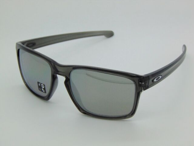 0ec7b6ead2a54 New OAKLEY SLIVER OO9262-13 Grey Smoke Chrome Iridium Polarized 57mm  Sunglasses