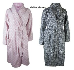 New M/&S From Me To You Grey Tatty Ted Fleece Hooded Dressing Gown Sz S UK 8-10
