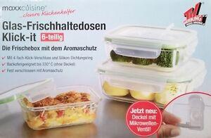 Klick-it Glas Frischhaltedosen Dosen Vorratsdosen Vorratsgefäße