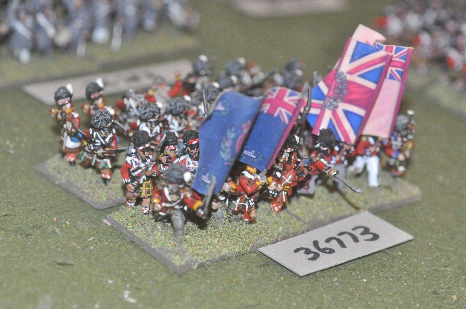 25mm napoleónicas británico Highlanders 32 figuras-INF (36773)