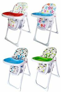Image is loading Bebe-Style-Foldable-Baby-High-Chair-Recline-Height-  sc 1 st  eBay & Bebe Style Foldable Baby High Chair-Recline Height Adjustable ...