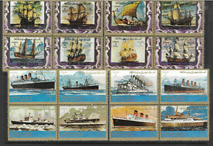 AJMAN-STATE-UAE-1973-Ancient-and-Modern-SHIPS-Set-20v-USED-CTO