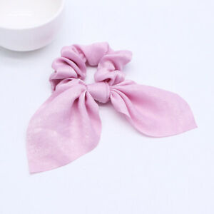 Hair-Accessories-Bow-knot-Ribbon-Elastic-Ties-Hair-Bands-For-Girls-Women-Pink