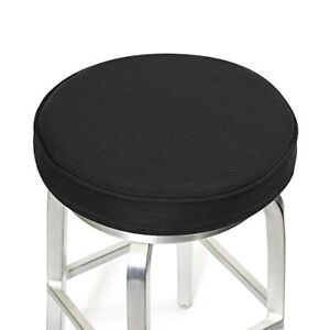 Details About Memory Foam Non Slip Backing Bar Stool Seat Cover Round Cushion Washable Cover