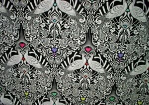 Free-Spirit-Tula-Pink-Linework-Tall-Tails-PWTP152-Ink-Cotton-Fabric-BTY