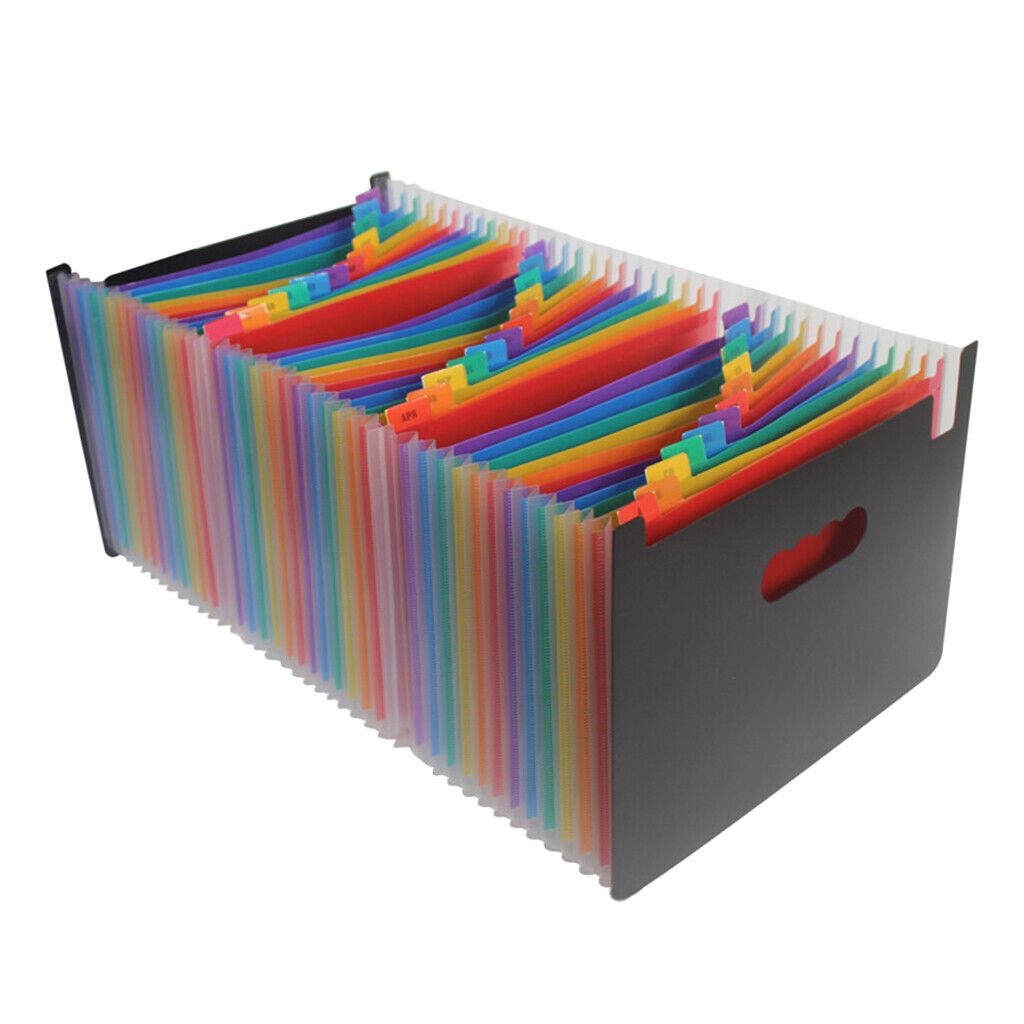 Expanding A4 File Folder 12 24 37 48 Accordion Holder Office Supplies