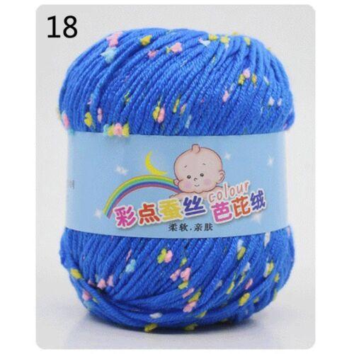 Vente 1 boule 50 g À faire soi-même bébé cachemire soie laine enfants MAIN TRICOT CROCHET FIL