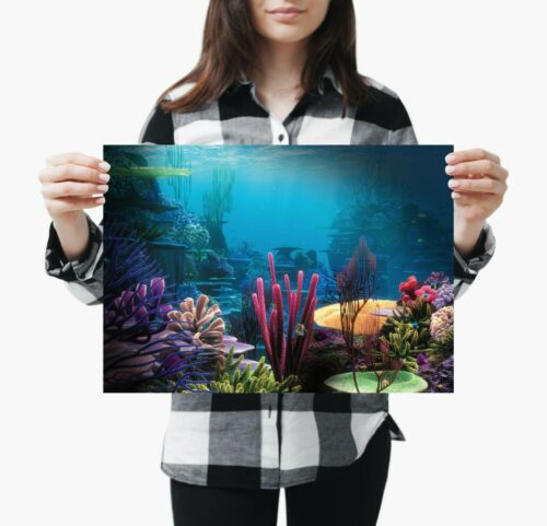 A3 Underwater Nature Poster Gift #8937 Beautiful Coral Reef Poster Size A4