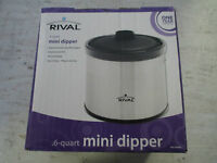 Rival .6qt Mini Dipper, Electric Warmer, Dip, In Box