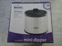 Rival .6qt Mini Dipper, Electric Warmer, Dip, In Box