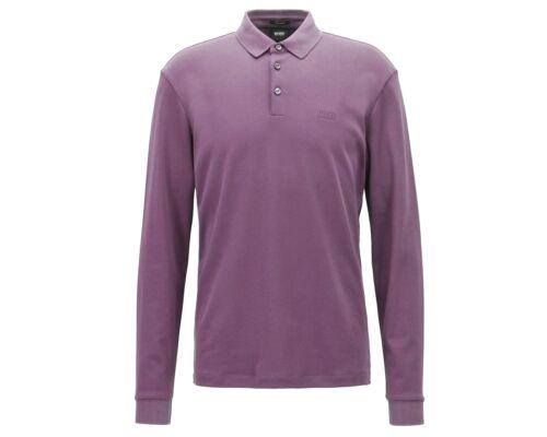 Solde Hugo Boss Pado 11 50391826 506 Manches Longues Polo Hommes Chemise Violet