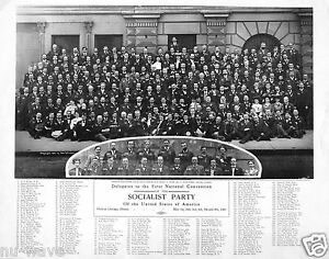 1904-Delegates to the First National Convention of the Socialist Party - Chicago