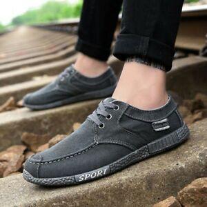 Hommes-Vieux-Beijing-Respirant-Lacet-Chaussures-Toile-Decontracte-Daily
