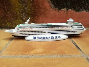 Fougueux Sovereign Of The Seas Cruise Ship Model. Royal Caribbean Model. Paperweight.