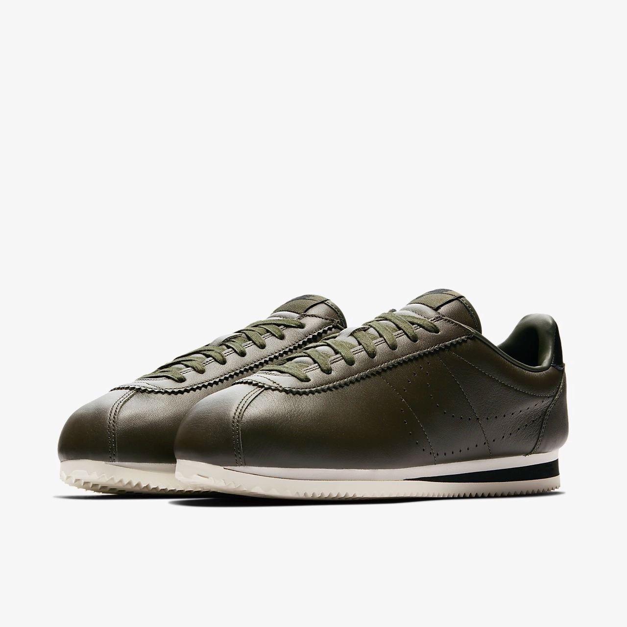 HERREN Nike Classic Cortez Leder Premium UK 11eu46 Cm30 Grün (861677-300)