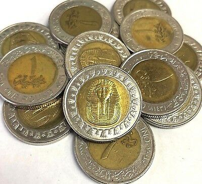 Egypt 1 Pound 2005-2018 King Tutankhamun Free Shipping Worldwide
