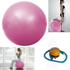 65cm Balance Stability Pilates Ball for Yoga Fitness Exercise Pink w/ Air Pump