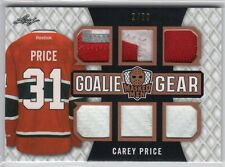 2017 Leaf Masked Men Carey Price Goalie Gear 6 Jersey Patch Glove/Pad #2/20