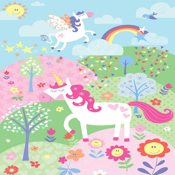 Riva Paoletti Kids Unicorn Wall Mural Pink 158 X 232 Cm eBay