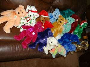 "U Choose One :Ty Beanie Buddies Stuffed Plush BEAR 14"" Animal Stuffed  ~ 8  NWT"
