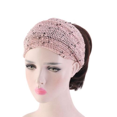 Yoga Bandeau Coton Maille chimio coiffure Large Head Wrap Turban Dreadlock écharpe D