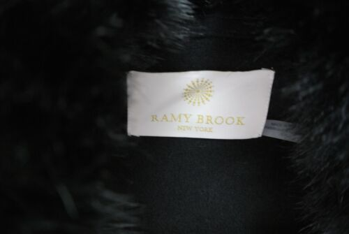 New Size Collar S Black In Jesse Ramy Fur Jacket Faux Brook rXpqrwxzA