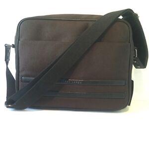 Ted Baker NEW Iccube Nylon Messenger Bag Brown Black Mens 134109 RRP ... 44db12e4d3270