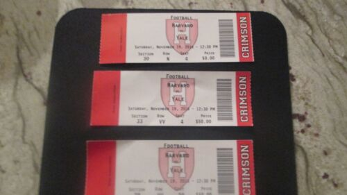 "133RD MEETING PROGRAM""THEGAME""HARVARD VS. YALENOV.19TH,2016 2 HARVARD TICKET"