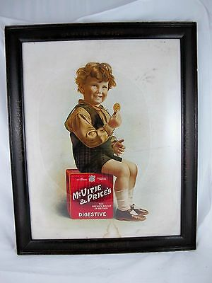 vintage advertising poster reproduction. McVitie