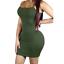 Women-Bandage-Bodycon-Tops-Sleeve-Evening-Party-Cocktail-Club-Long-Tank-Dress thumbnail 3