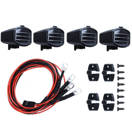 4pcs Led Spotlight Roof Light Lampshade For 1//10 RC Crawler Car Axial Scx10 FBLD