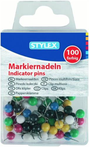 100 Stück bunt Markiernadeln Stecknadeln Nadeln Heftzwecken Pinnwand Pinnadeln!