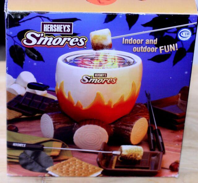 Marshmallows Roaster HERSHEY'S S'MORES MAKER Lifetime Brands Model 2009 FULL SET