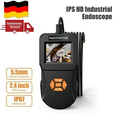 "2.4 /"" industrielle Inspektionskamera Endoskop Dia 5,5mm wasserdicht mit 6LEDs"