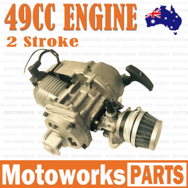 Necaces Pull Start for 2 Stroke Engine 47cc 49cc Pocket Bike Mini ATV Dirt Bike (silver)