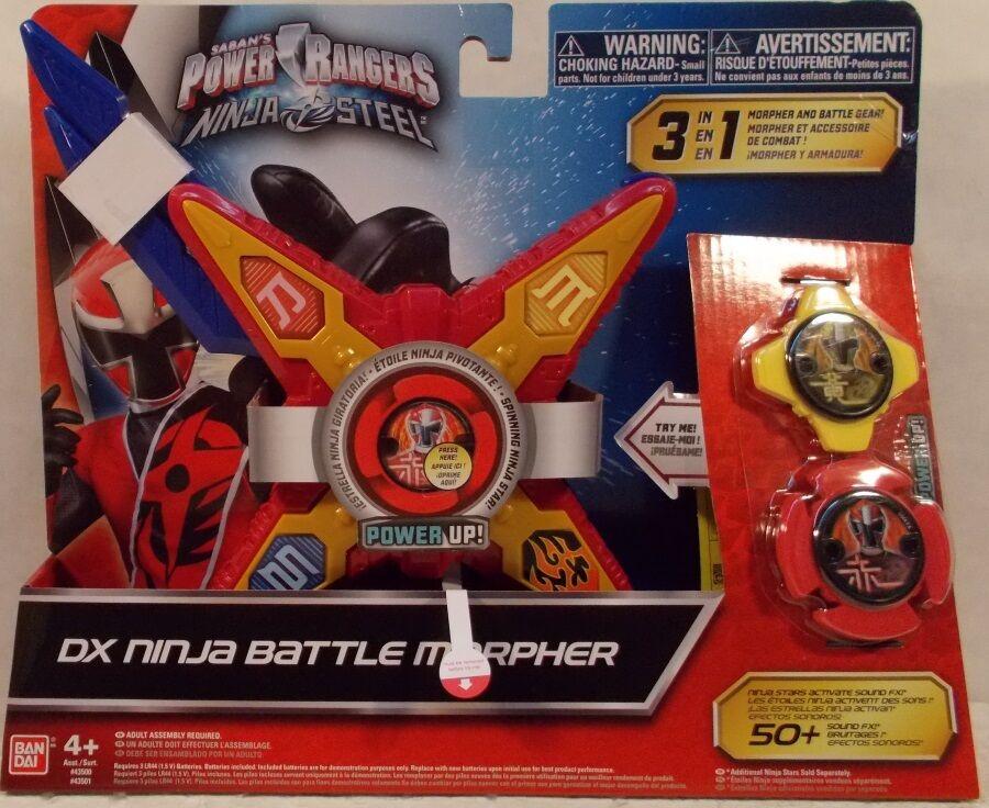 Power Rangers Ninja Steel Deluxe DX Ninja Battle Morpher With Sound 3 Modes Red