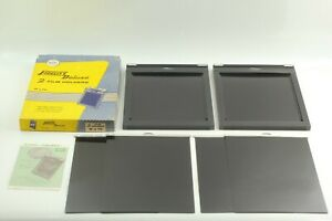 BOXED-UNUSED-2x-Fidelity-Deluxe-8x10-Cut-Sheet-Film-Holder-from-JAPAN-1850