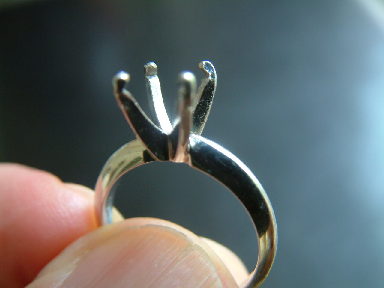 HEAVY PLATINUM 950  4 PRONG SOLITAIRE MOUNTING FOR 1.00 - 2.00 CARAT STONE  1900