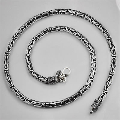 """Byzantine 2.5 mm Bali Chain Sterling Silver 925 Necklaces Jewelry Gift 18/"""""""