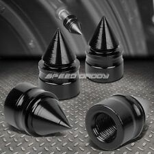 4 X ALUMINUM TIRE/RIM VALVE/WHEEL AIR PORT DUST COVER STEM CAP/CAPS RT011 BLACK