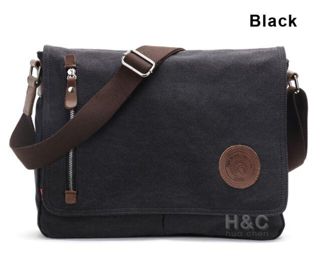 Men/'s Vintage Canvas Schoolbag Satchel Shoulder Messenger Bag Laptop Bags