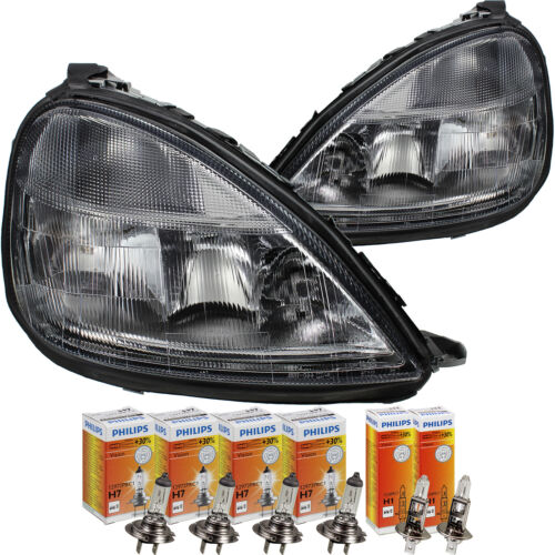 Scheinwerfer Set Mercedes A-Klasse W168 Bj 97-00 H7+H7+H1 inkl Lampen 1366962