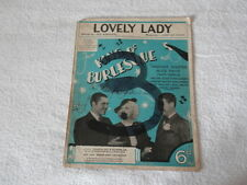 Vintage SHEET SCORE MUSIC LOVELY LADY Words by Ted Kohler