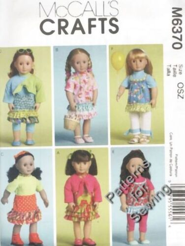 "Pattern McCalls Doll Clothes fits Girl 18"" inch Dress Bolero Capris NEW"