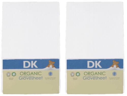 DK Glovesheets Jersey Cotton Organic Fitted MJ Mark Crib Sheet 80x45cm