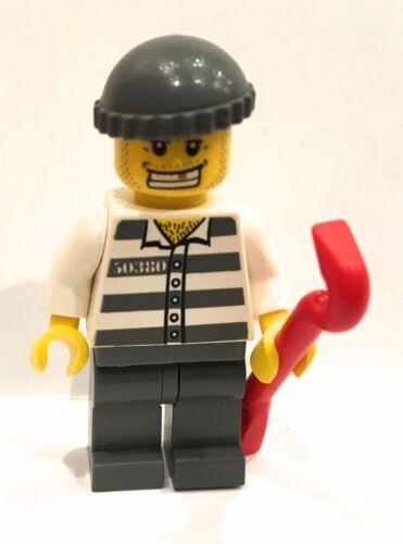 LEGO City Prisoner Robber Burglar minifigure City sets w crowbar!